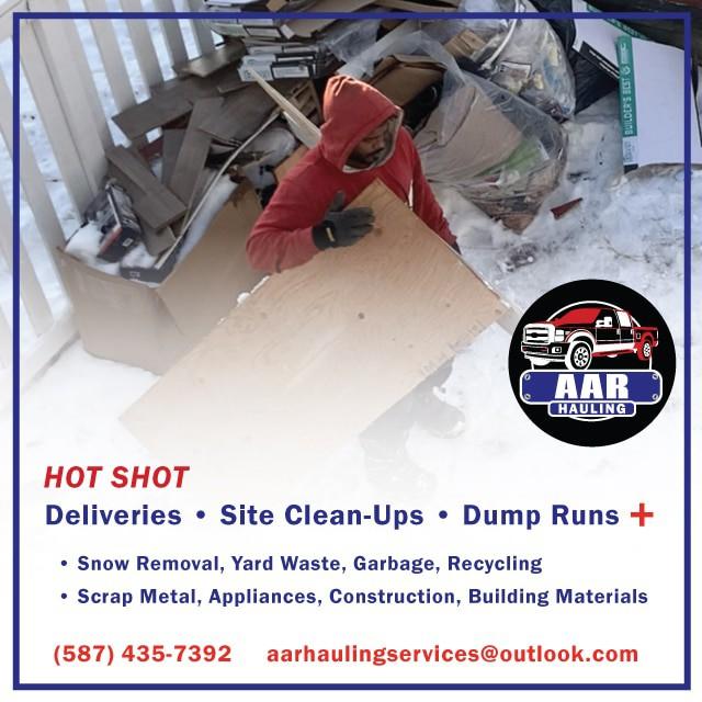 AAR Hauling Services: Junk – Scrap – Appliance Removal